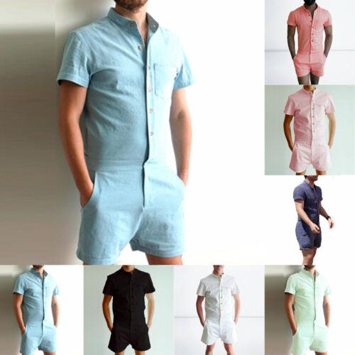 Man's Cool Stylish Short Sleeve Pants One Piece Shorts Jumpsuit Playsuit Romper