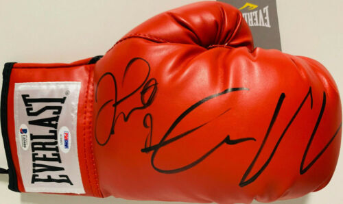 BAS Beckett PSA DNA Floyd Mayweather Jr Conor McGregor Signed Boxing Glove