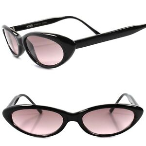 7692dcfbe3 Details about Classic True Vintage 50s 60s Pink Lens Black Small Pointy Cat  Eye Sunglasses