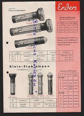 Oberrahmede, Prospekt Um 1935, Enders-stablampen, Vertrieb: G. W. Scheibe, Gera Moderate Kosten