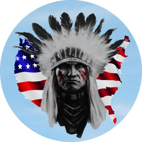 4x4 Spare Wheel Cover 4 x 4 Camper Graphic Vinyl Sticker Indians IN-6