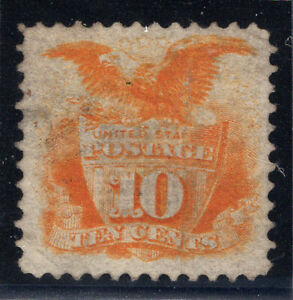 US Stamps Scott #116, 1869. Used, G Grill. Cat: $110. XF, Small Faults