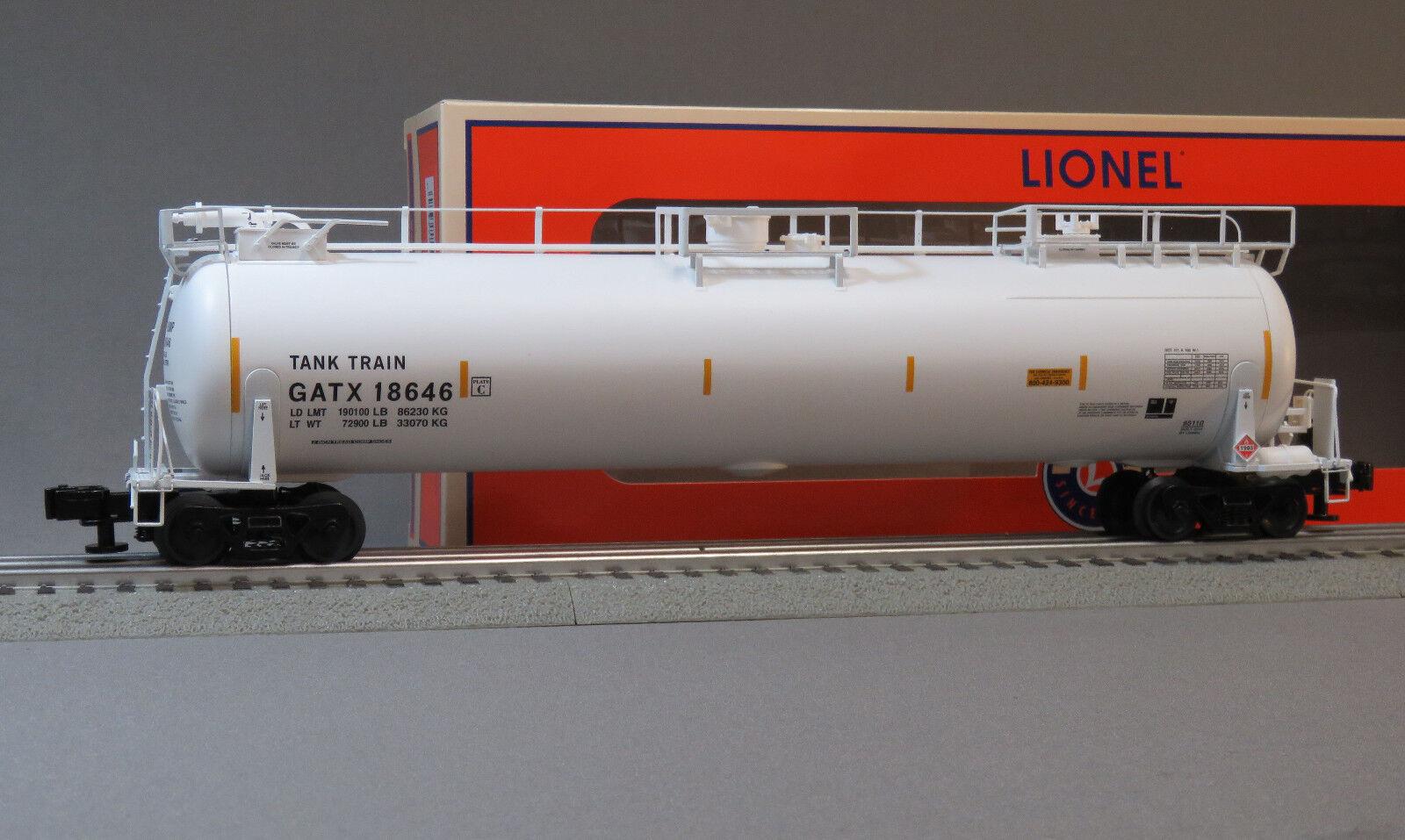 LIONEL GATX TANKTRAIN SCALE TANK CAR O GAUGE 85108 train freight ETD 6-85110 NEW
