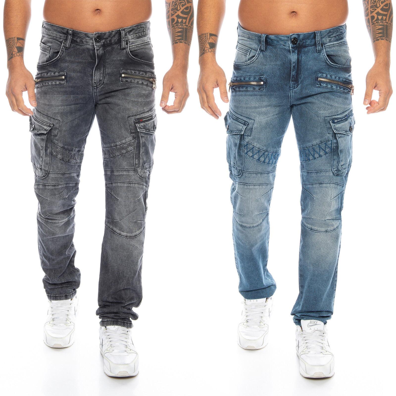 Cipo & Baxx Uomo Jeans Pantaloni 369 NUOVO w28 29 30 31 32 33 34 36 38 40
