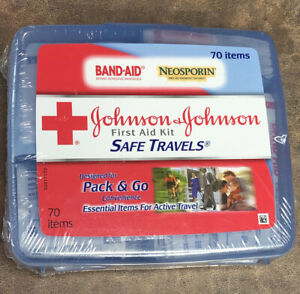 JOHNSON & JOHNSON Portable First Aid Kit for Minor Wound Care