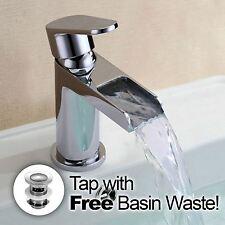 AQUARIUS ROUND Cascata Bagno Bacino lavandino MONO MIXER rubinetto cromato * GRATIS * rifiuti