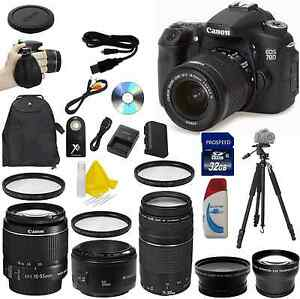 canon eos 70d 20.2 mp digital slr camera huge value bundle