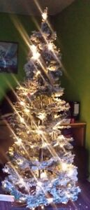 Pre Lit Rotating Christmas Tree.Details About 6ft Adventa Snow Pop Up Pre Lit Christmas Tree 360 Rotate Manually