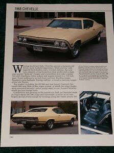 Details about ★★1968 CHEVY CHEVELLE-SS-300-MALIBU SPEC SHEET 68 396 307  SS396 CONVERTIBLE★★