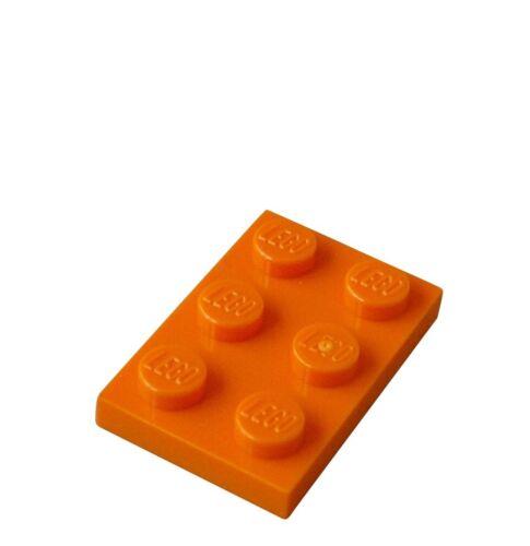 Lego 50x Plate 2x3 Orange 3021 Plate Plates Panel City Basics New