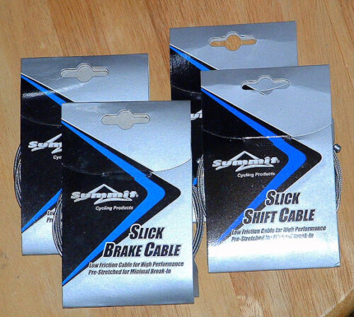 Stainless Slick MTB Road BIKE Shift Shifter /& Brake TANDEM Cables 3000mm Quality