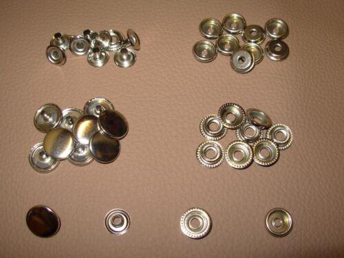10 Ringfeder Druckknöpfe 15mm o Handschlageisen Druckknopf Leder Stoff Nähfrei