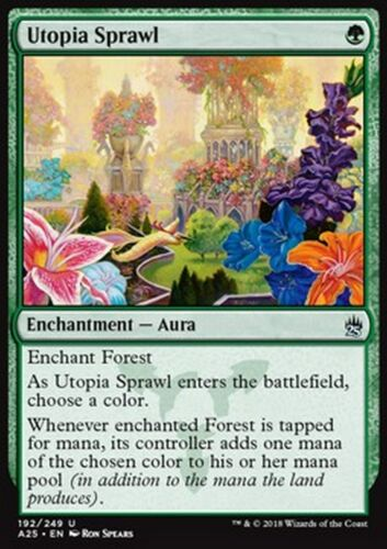 MTG magic M25 Etendue de l/'utopie MRM ENGLISH Utopia Sprawl