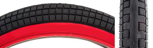 20x2.25 Kenda Kid-Block Black w// Red Sidewall BMX tire no logo