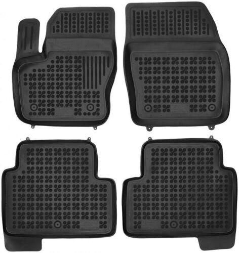 4-teilige schwarze Gummifußmatte für FORD Kuga II Bj ab 2012