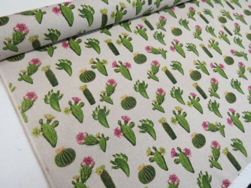 Latest Designer Cactus Palm Tree Leaves Green Cotton Curtain Fabric Upholstery