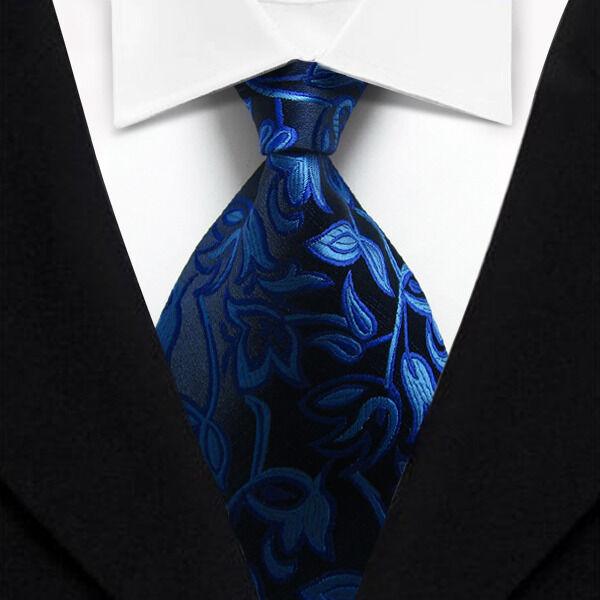 1480f7f21ce7 Tk070 Blue Floral Classic Woven Silk Jacquard Necktie Men's Tie for sale  online   eBay