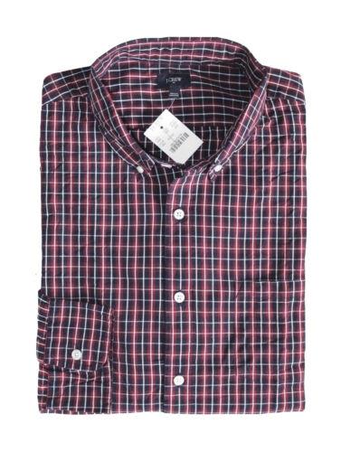 Red//Navy Blue Plaid Washed Cotton Shirt Men/'s L Regular Fit J.Crew Factory
