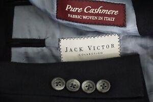 Jack-Victor-Vitalewood-Solid-Black-PURE-CASHMERE-Sport-Coat-Jacket-Sz-42R