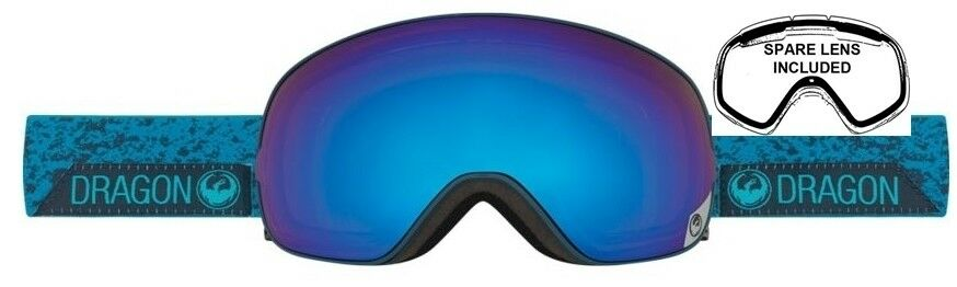 NEW Dragon X2s Stone Blau  Herren Ski Snowboard Snowboard Ski Goggles + lens Ret220 d9c5c7