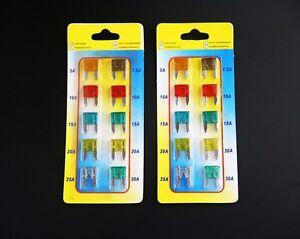 20-piezas-MITSUBISHI-mini-coche-Set-Auto-Fusibles-5-7-5-10-15-20-25-30amp