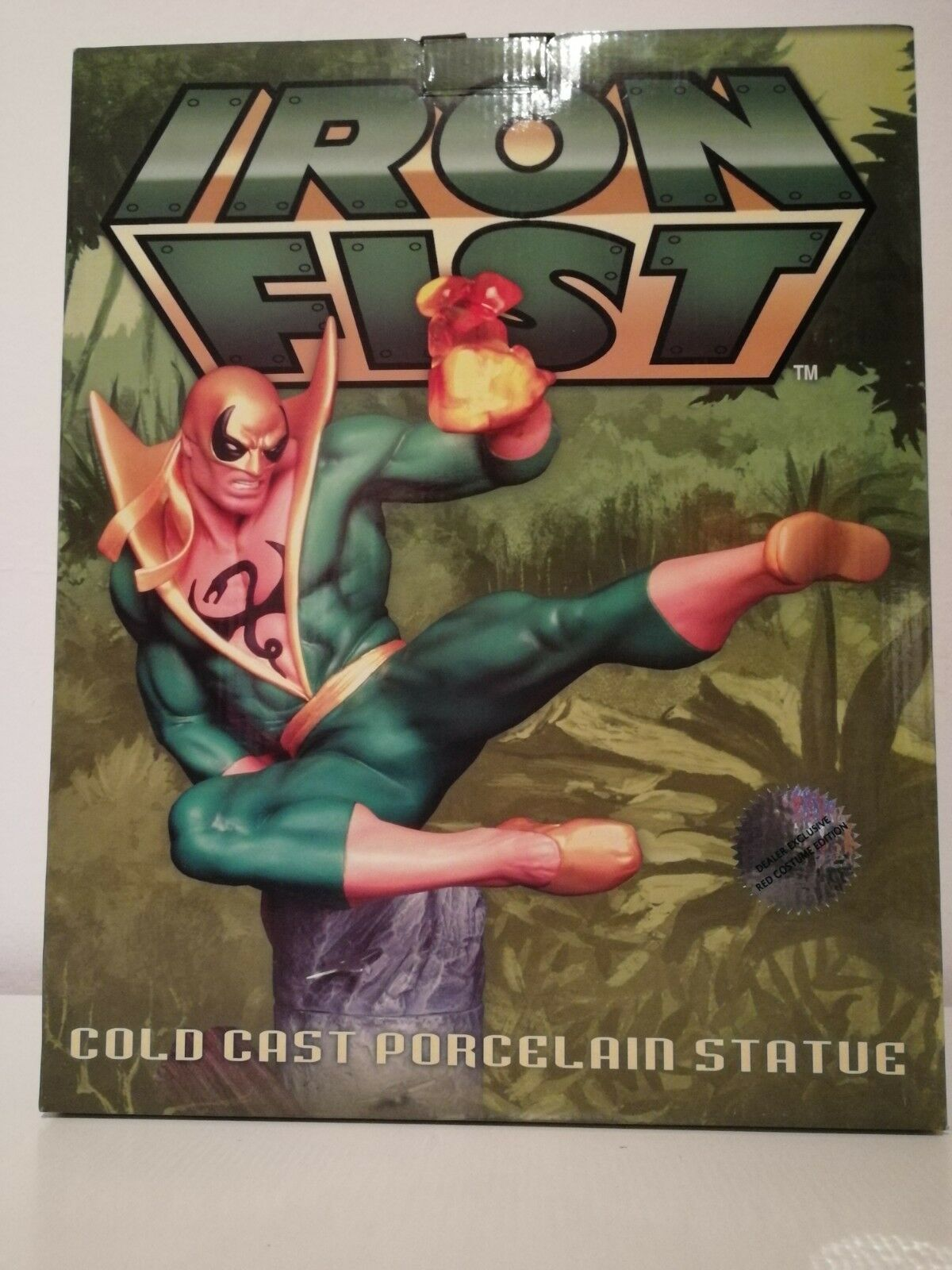 Hard Hero Iron Fist Cold Case Porcelain Statue Red Limited Limited 250