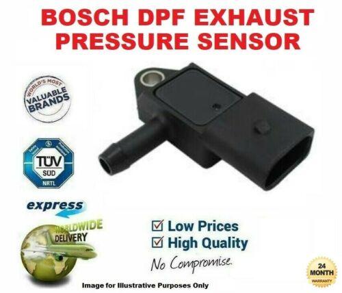 Bosch DPF Sensor De Presión De Escape Para AUDI A4 2.0 TDi Quattro 2006-2008
