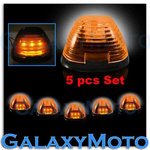 99-15-Ford-Super-Duty-F250-F350-F450-5pcs-Cab-Roof-AMBER-LED-Lights-AMBER-Lens