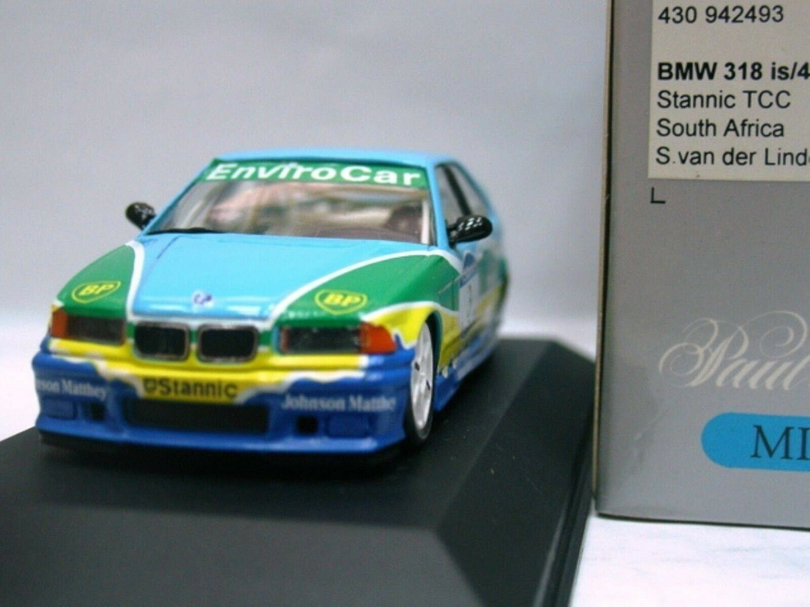 WOW EXTREMELY RARE BMW E36 1994 318iS Linde Champion SATCC 1 43 Minichamps