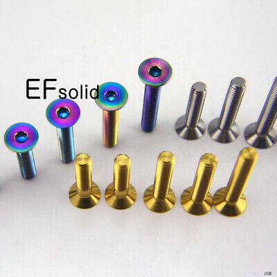 4pcs Titanium Countersunk Bolts Screws M6 x10//15//20//25//30//35//40//55mm