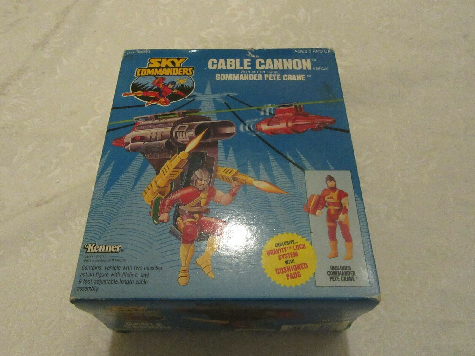 Kenner Sky Commanders Cable Cannon with Commander Pete Crane 1987 Action Figure