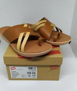 FitFlop-Loopy-Leather-Slides-in-Light-Tan-Size-US6-only