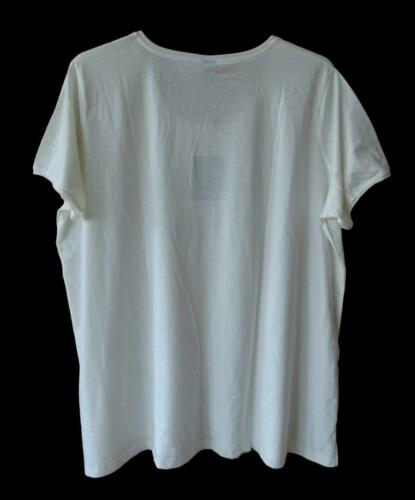 50//52,54//56 NEU Übergröße tolles Damen Shirt in creme Schriftzug WOMAN POWER Gr