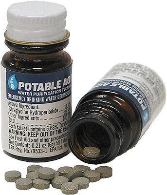 Water Purification Tablets POTABLE AQUA Giardia NEW