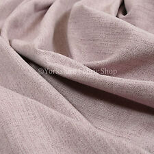 Soft Faux Wool Finish New Pink Chenille Fabric Upholstery Furnishing & Curtains