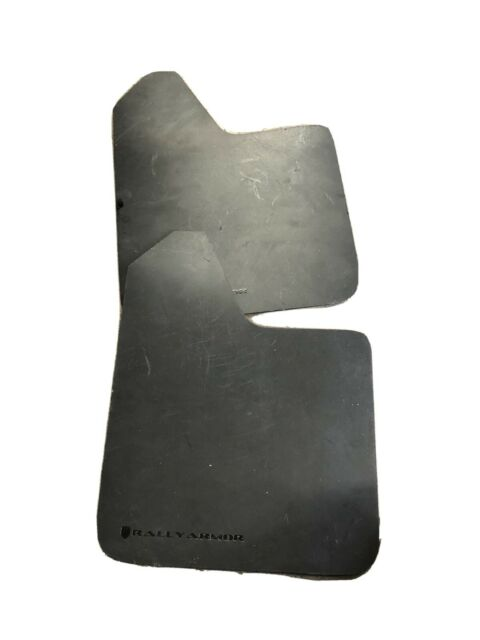 UNIVERSAL FIT MUD FLAP FLAPS SET With MOUNTING HARDWARE BLACK Plastic