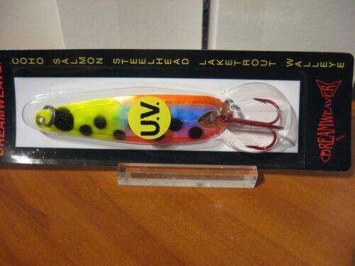 "DreamWeaver Fishing Lures 3 3//4/"" Trolling Spoon DW1415DUV Wrecking Ball"