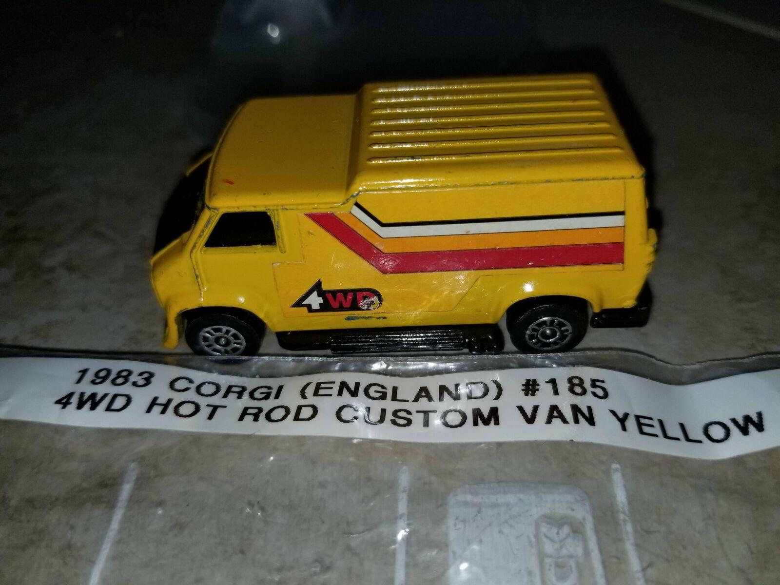 1983 Corgi Uk 185 Hot Rod 4wd Custom Yellow Van For Sale Online