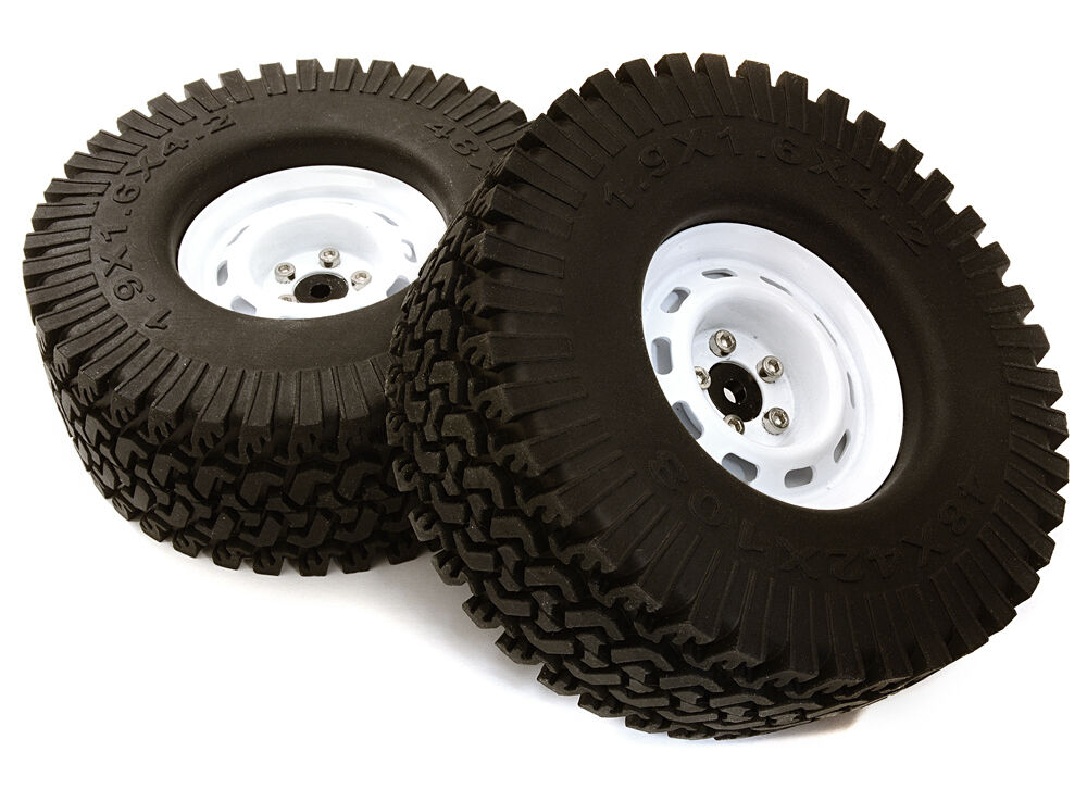 C27253WHITE Model Spoke Off-Road 1.9 Wheel & All Terrain Tire(2)(O.D.=110mm) Tire(2)(O.D.=110mm) Tire(2)(O.D.=110mm) a3b6a8