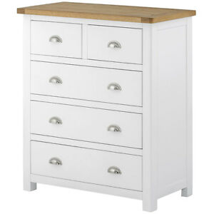 Image Is Loading Padstow White Painted Chest Of Drawers 2 Over