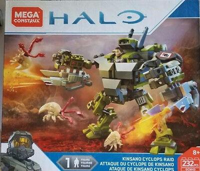 Mega Construx Halo Kinsano Cyclops Raid New Sealed  Firestorm Hellbringer Leader