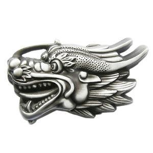 Nouveau-vintage-3D-decoupe-tete-de-dragon-Boucle-de-ceinture-Gurtelschnalle-Boucle-de-ceinture