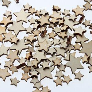 50X-WOODEN-MINI-MIXED-WOOD-STARS-DECOR-IDEAL-ART-CRAFT-CARD-MAKING-SCRAPBOOKING