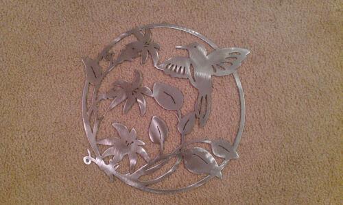 Beija-flor Parede Arte 14 Pol De Largura Decoração Aço Elegante Hb1
