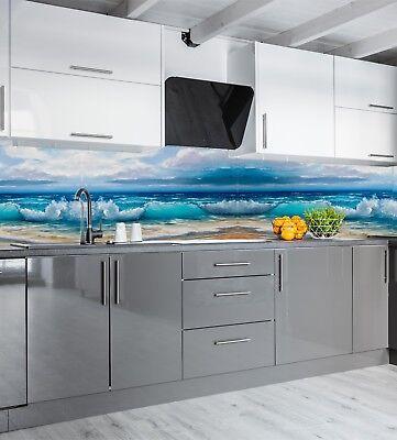 Kuchenruckwand Acrylglas Sp95 Die Welle Fliesenspiegel Spritzschutz Badfliese Ebay