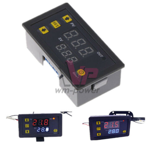 Dual LED Display AC110-220V Cycle Timer Delay Relay Module 0-999s 0-999m 0-999h