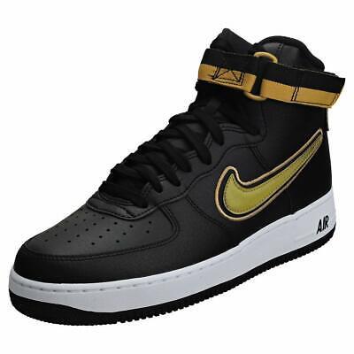 Nike Air Force 1 07 Mid LV8 Men's Shoe BlackWhiteMetallic