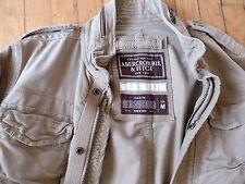 Abercrombie & Fitch Hollister Spring Fall Men Military Jacket Size M Khaki Coat