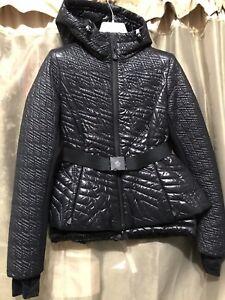 3d9c8abfe49a MONCLER GRENOBLE ROMANCHE down jacket nylon down feather BLACK Size ...