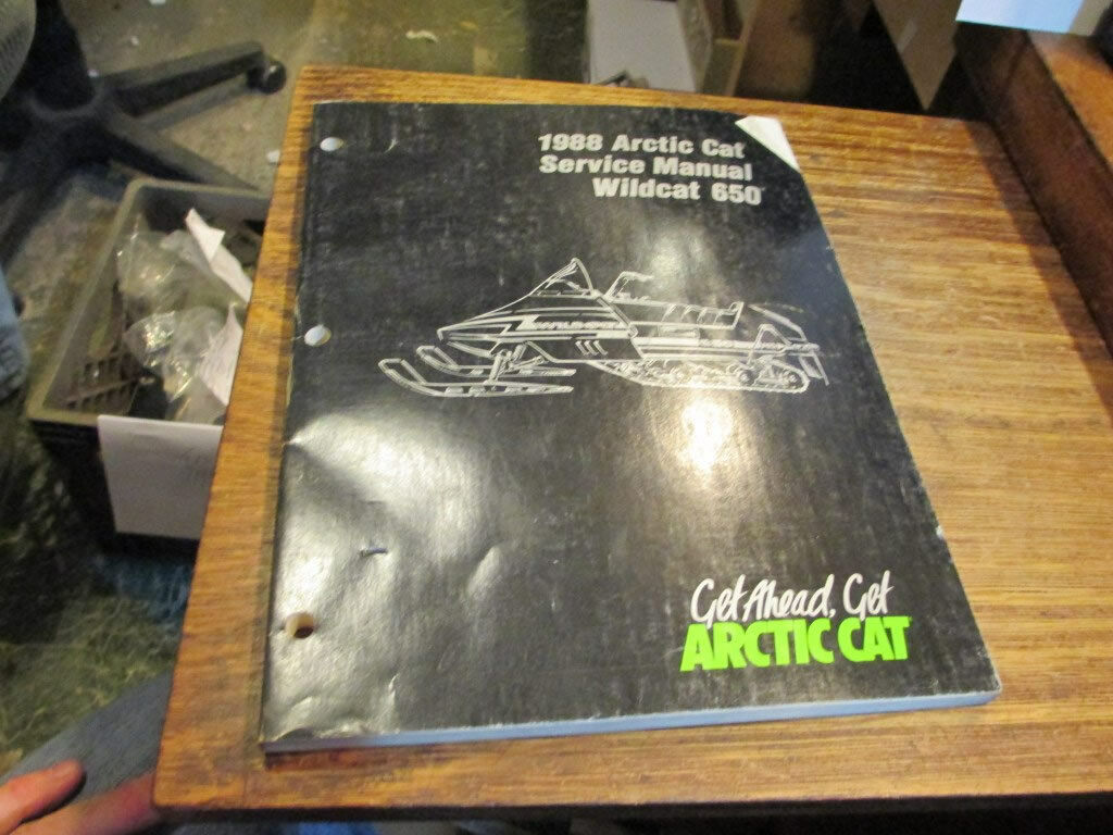 Arctic Cat Snowmobile Factory 1988 Wildcat 650 Service Manual 2254-454
